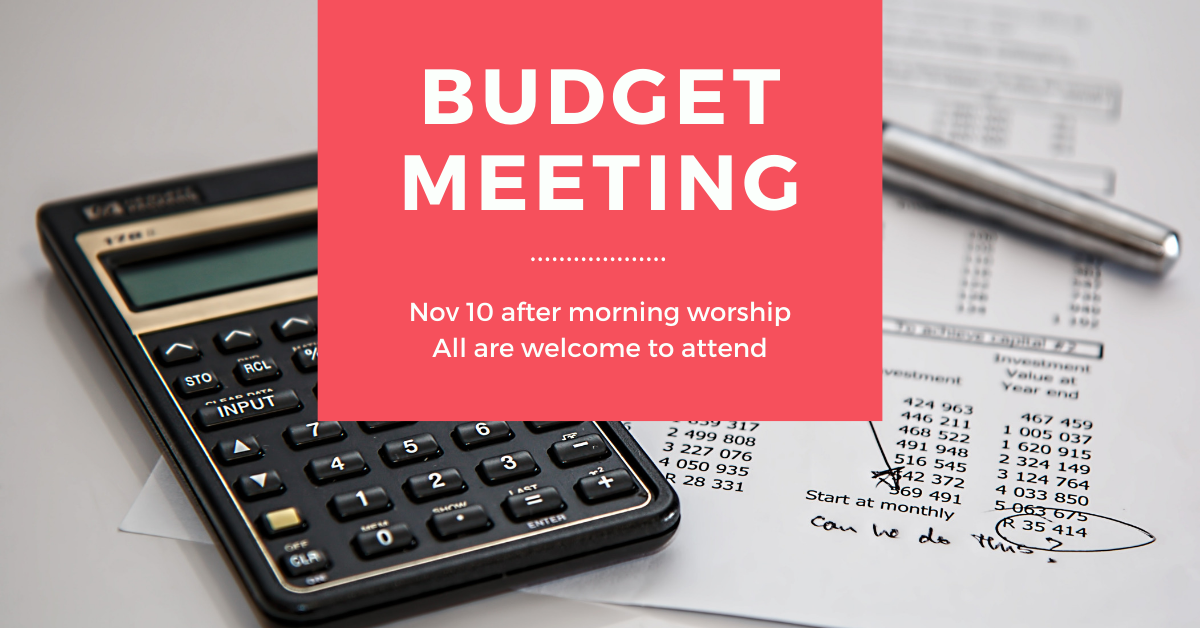 Budget Meeting @ Ketchikan First Assembly of God Church